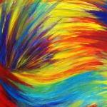 Original RAINBOW Acrylic Painting A..